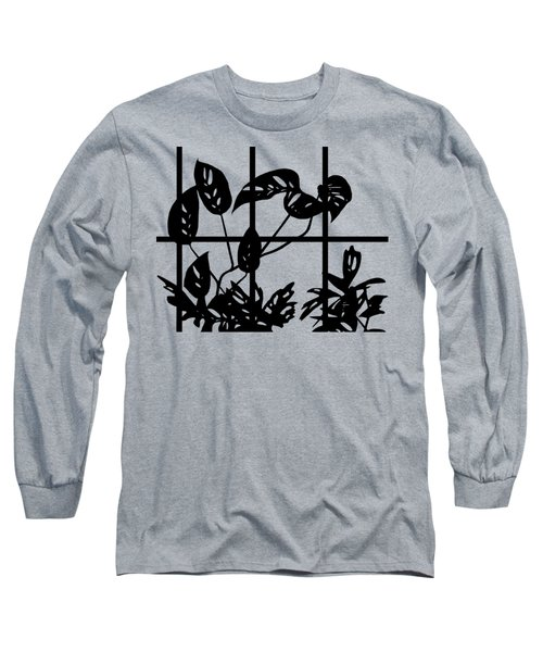 Leaves In Window Long Sleeve T-Shirt