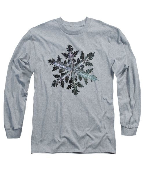 Leaves Of Ice, Panoramic Version Long Sleeve T-Shirt