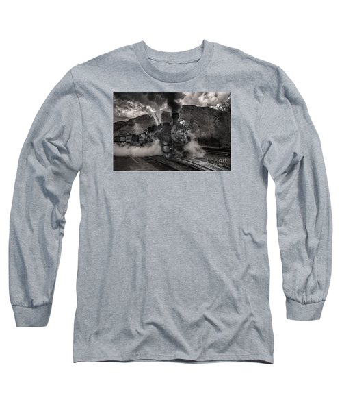 Long Sleeve T-Shirt featuring the digital art Leaving Durango For Silverton by William Fields