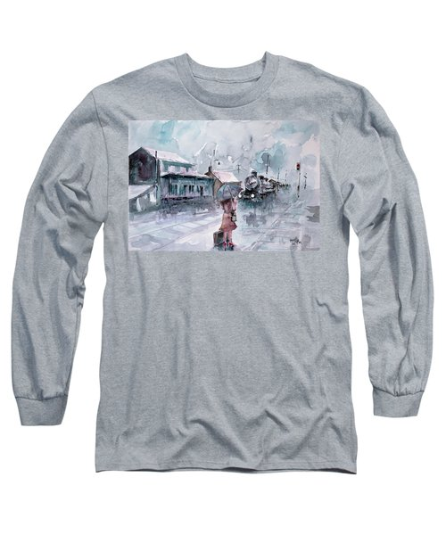 Long Sleeve T-Shirt featuring the painting Leaving... by Faruk Koksal