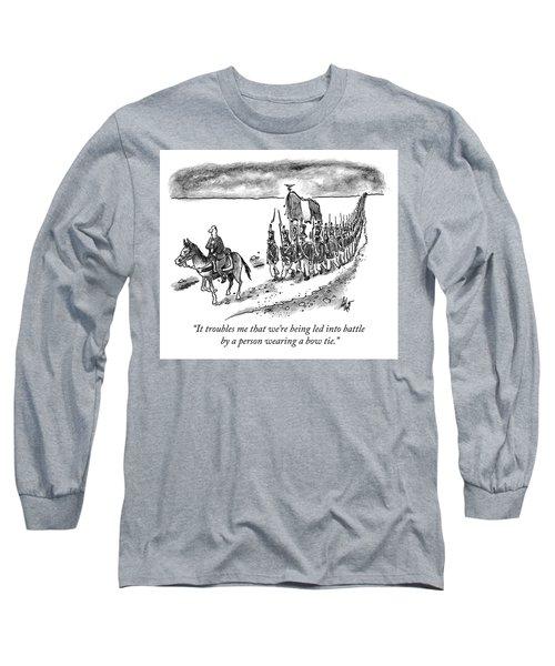 Led Into Battle By A Bow Tie Long Sleeve T-Shirt