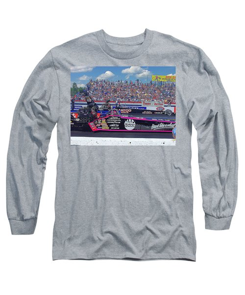 Long Sleeve T-Shirt featuring the photograph Legends At The Line by Jerry Battle