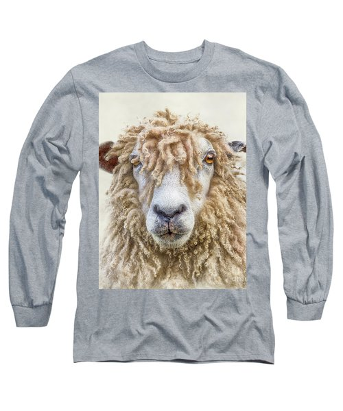 Leicester Longwool Sheep Long Sleeve T-Shirt by Linsey Williams