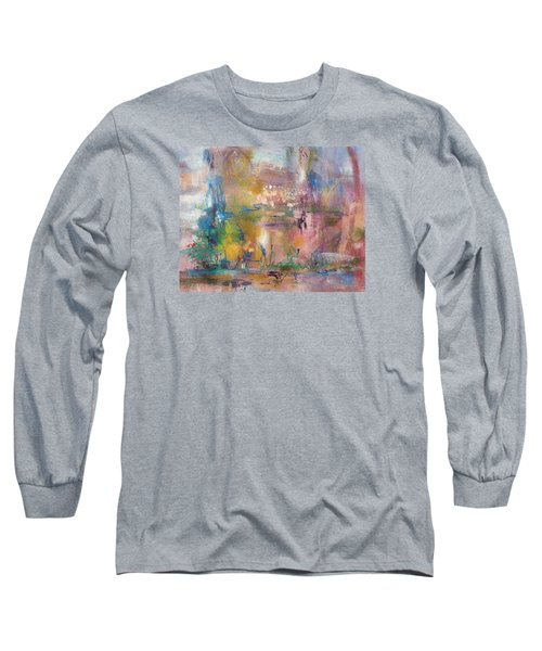 Lemonade From Lemons Long Sleeve T-Shirt by Becky Chappell