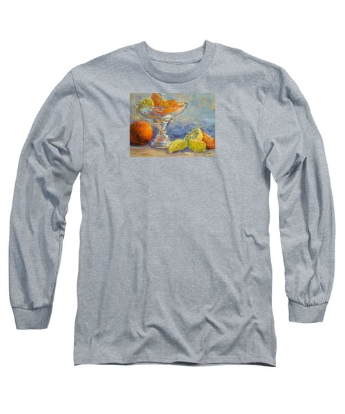 Lemons And Oranges Long Sleeve T-Shirt by Jill Musser