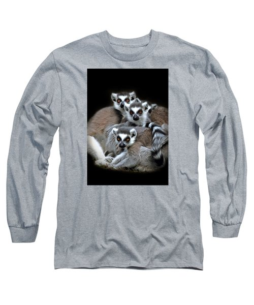 Long Sleeve T-Shirt featuring the photograph Lemurs by Marion Johnson