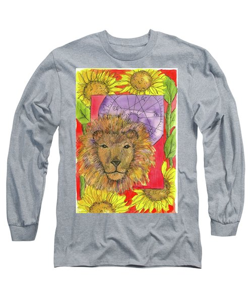 Long Sleeve T-Shirt featuring the painting Leo by Cathie Richardson