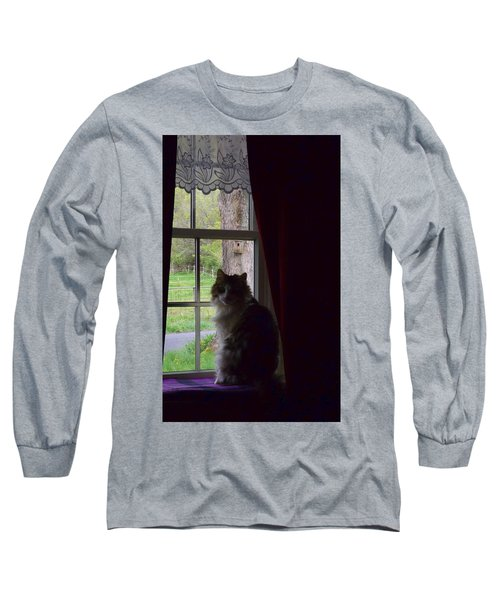 Leo In The Window Long Sleeve T-Shirt