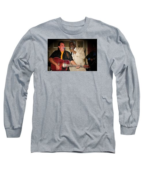 Leon Everette And Bill Pinkney Long Sleeve T-Shirt by Bob Pardue