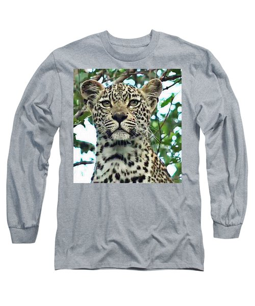 Leopard Face Long Sleeve T-Shirt