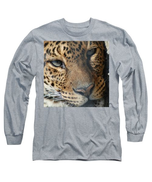 Long Sleeve T-Shirt featuring the photograph Leopard Face by Richard Bryce and Family