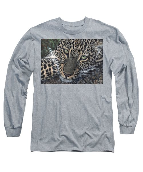 Leopard Portrait Long Sleeve T-Shirt