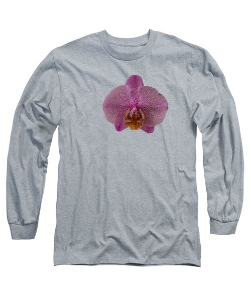 Leopard Prince Phalaenopsis Orchid Long Sleeve T-Shirt by Zina Stromberg