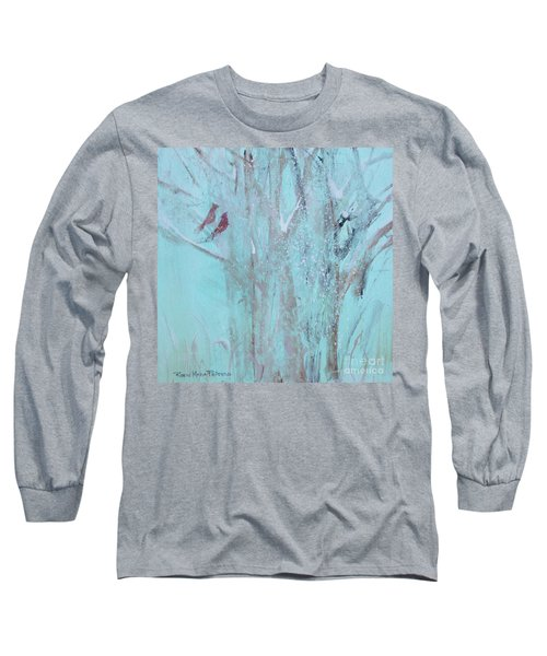 Long Sleeve T-Shirt featuring the painting Let It Snow by Robin Maria Pedrero