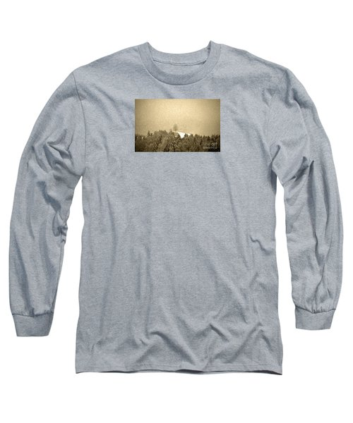 Long Sleeve T-Shirt featuring the photograph Let It Snow - Winter In Switzerland by Susanne Van Hulst
