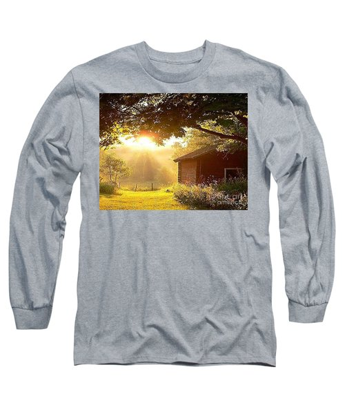 Let There Be Light Long Sleeve T-Shirt by Rod Jellison