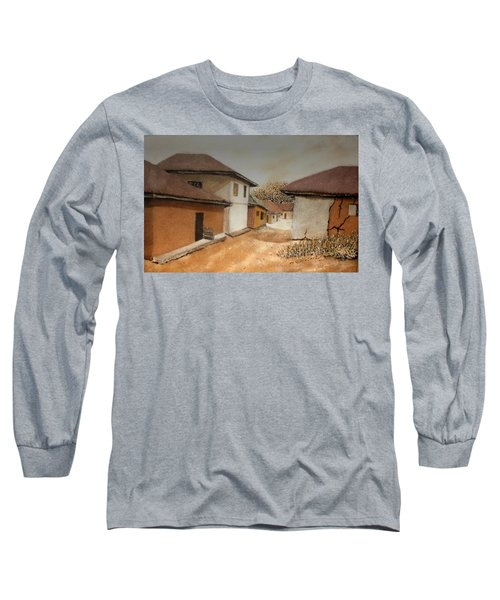Let There Be Peace In Our Land Long Sleeve T-Shirt by Bankole Abe