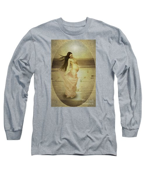 Let Your Soul And Spirit Fly Long Sleeve T-Shirt by Linda Lees