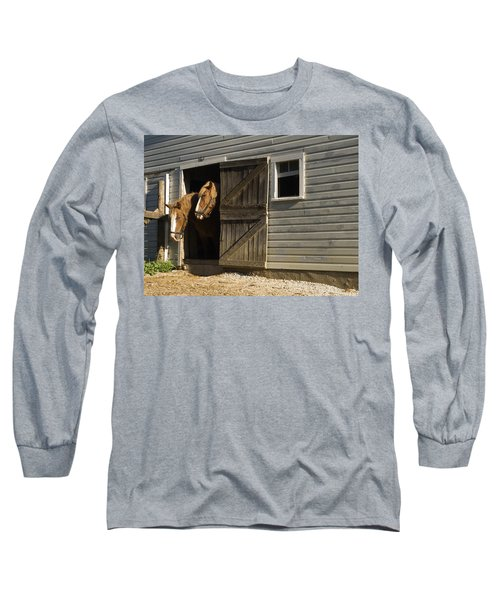 Long Sleeve T-Shirt featuring the photograph Let's Go Out by Sally Weigand