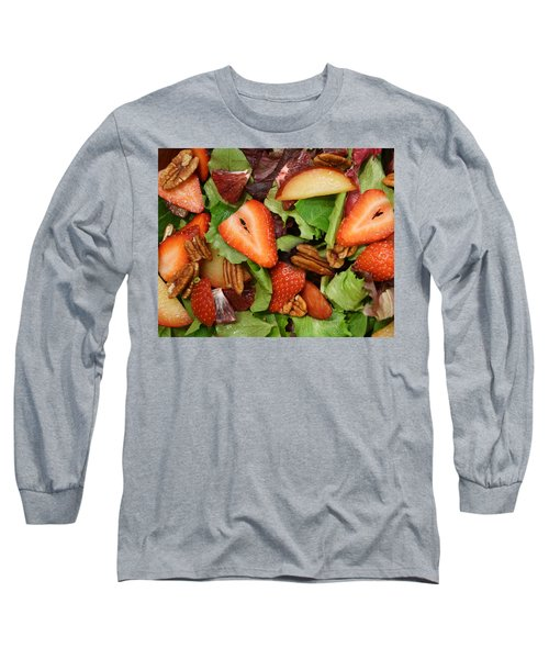Lettuce Strawberry Plum Salad Long Sleeve T-Shirt by Jana Russon