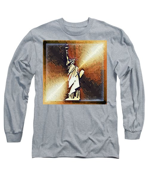 Liberty On The Hudson Long Sleeve T-Shirt
