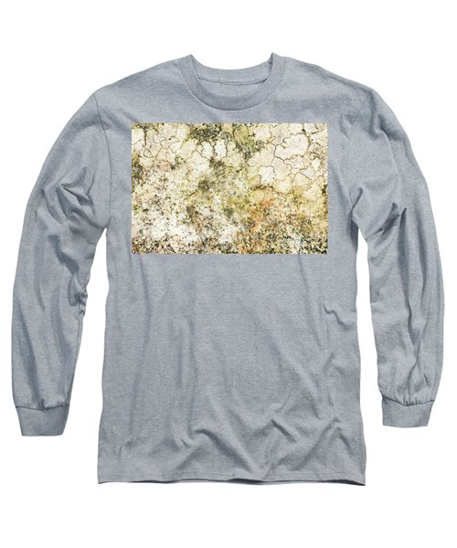 Long Sleeve T-Shirt featuring the photograph Lichen On A Stone, Background by Torbjorn Swenelius