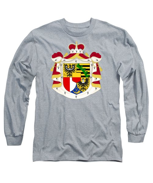 Long Sleeve T-Shirt featuring the drawing Liechtenstein Coat Of Arms by Movie Poster Prints