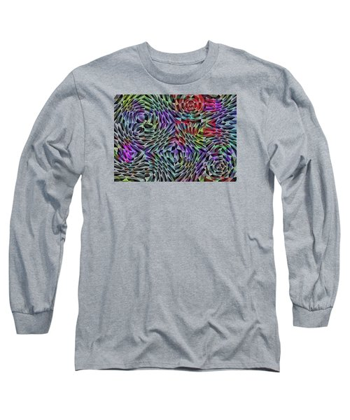 Long Sleeve T-Shirt featuring the digital art Life Currents by Mimulux patricia no No