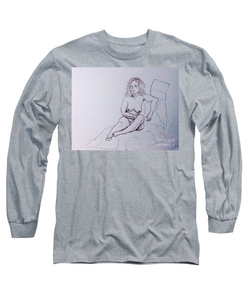 Life Drawing Nude Long Sleeve T-Shirt