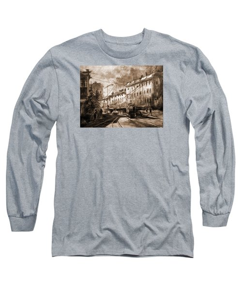 Life In The City Long Sleeve T-Shirt by Mikhail Savchenko
