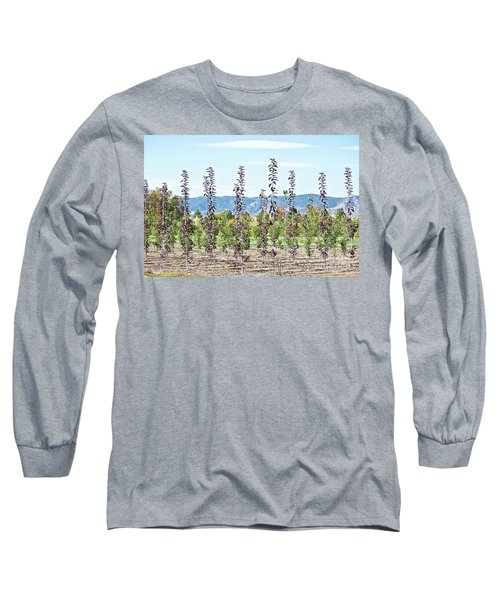 Life On A Tree Farm-foothills View #1 Long Sleeve T-Shirt