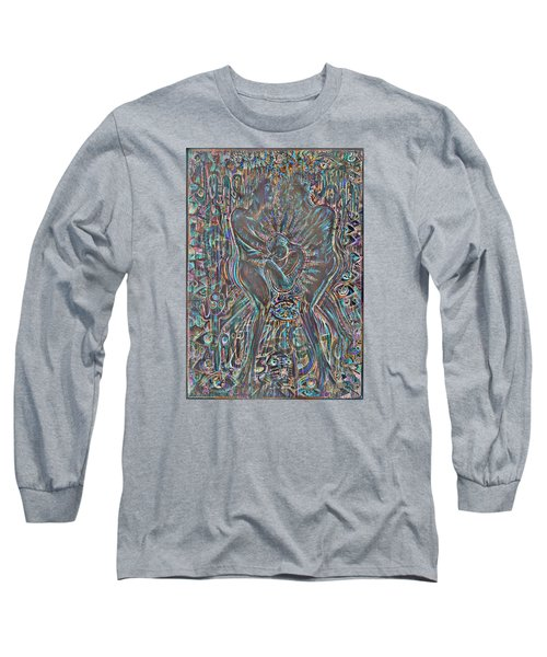 Long Sleeve T-Shirt featuring the mixed media Life Series 7 by Giovanni Caputo