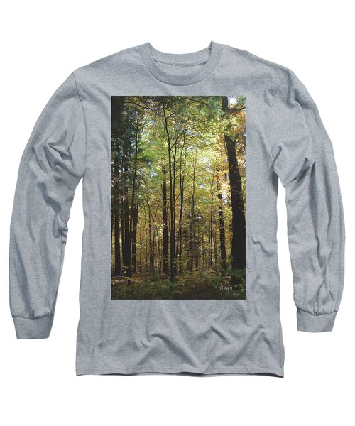 Light Among The Trees Vertical Long Sleeve T-Shirt by Felipe Adan Lerma