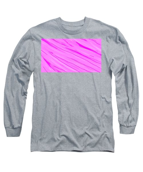 Light And Dark Pink Swirl Long Sleeve T-Shirt by Linda Velasquez