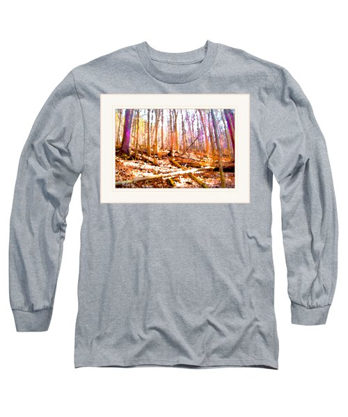 Light Between The Trees Long Sleeve T-Shirt by Felipe Adan Lerma