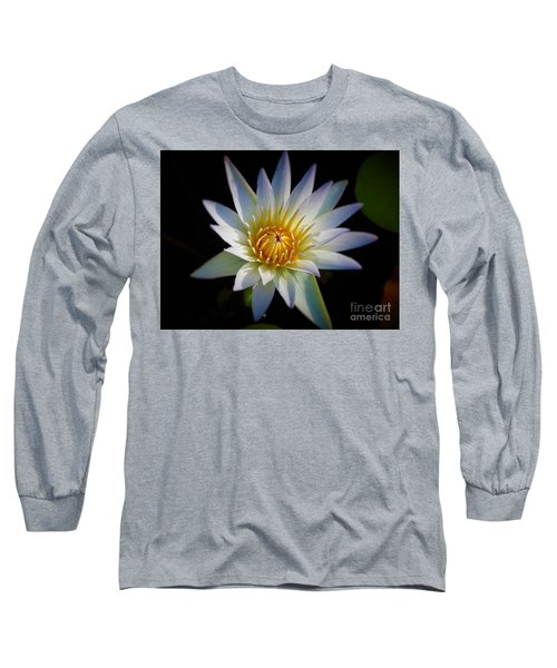 Light Blue Water Lily Long Sleeve T-Shirt by Chad and Stacey Hall