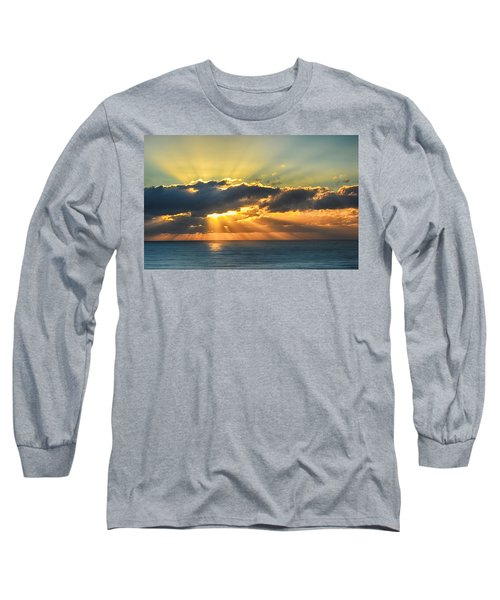 Long Sleeve T-Shirt featuring the photograph Light Explosion by AJ Schibig