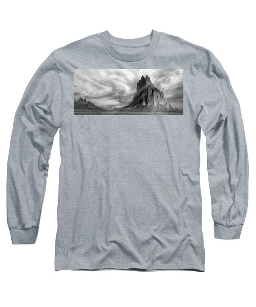 Long Sleeve T-Shirt featuring the photograph Light On Shiprock by Jon Glaser
