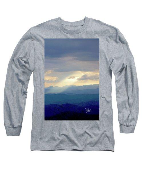 Light Ray Sunset Long Sleeve T-Shirt by Meta Gatschenberger