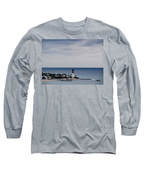 Lighthouse And Rain Clouds Long Sleeve T-Shirt