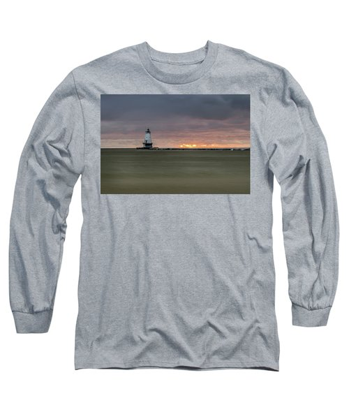 Lighthouse And Sunset Long Sleeve T-Shirt