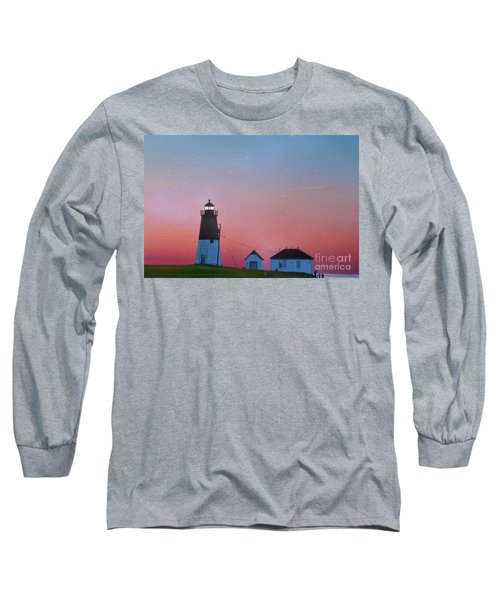 Long Sleeve T-Shirt featuring the photograph  Lighthouse At Sunrise by Juli Scalzi