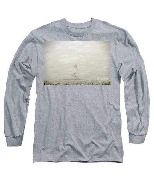 Lighthouse In Snowstorm Long Sleeve T-Shirt