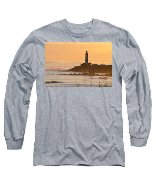 Lighthouse Sunset Long Sleeve T-Shirt by Alex King