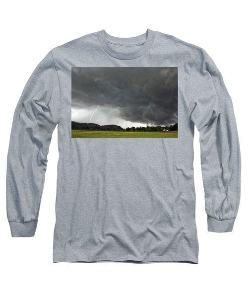 Lightning Strike On Tyringham Plain Long Sleeve T-Shirt