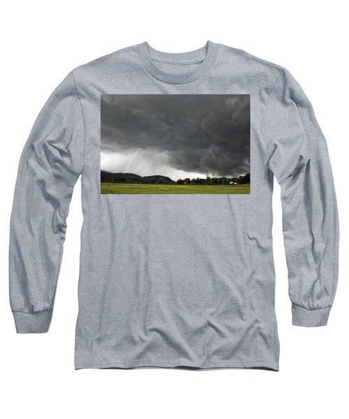 Lightning Strike On Tyringham Plain Long Sleeve T-Shirt