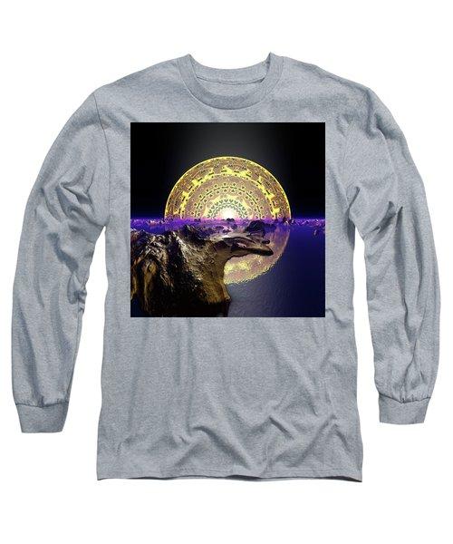 Long Sleeve T-Shirt featuring the digital art Lightscape 24 by Robert Thalmeier