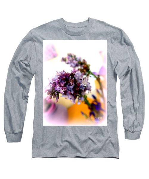 Lilac Beauty Long Sleeve T-Shirt by Marlene Rose Besso