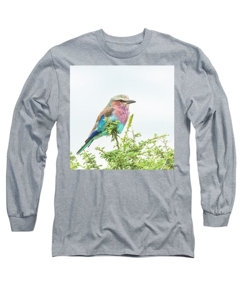 Lilac Breasted Roller. Long Sleeve T-Shirt