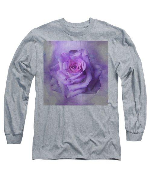 Lilac Purple Rose Long Sleeve T-Shirt
